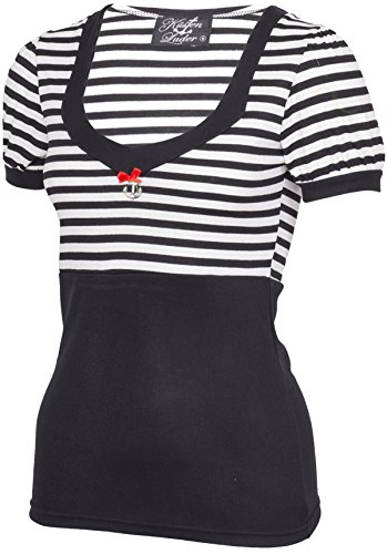Küstenluder JANAE Retro Sailor STRIPED Streifen Puff Sleeve SHIRT Rockabilly -