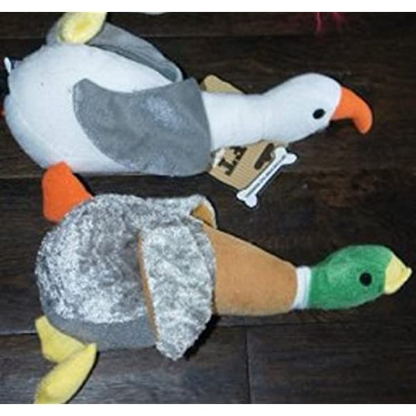 Good Boy HONKING DUCK AND HONKING SEAGULL PLUSH DOG TOY TWIN