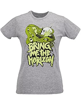 Camiseta Mujer Slim Bring Me The Horizon Skull Kiss Artwork - Maglietta 100% algodòn ring spun LaMAGLIERIA