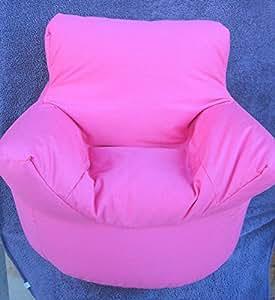 Cotton Cerise Pink Bean Bag Arm Chair Seat * Hallways ®