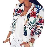 Frauen-Mantel-Art- und Weisedamen-Retro- Blumenzipper-Bomber-Jacke Lässig Autumn Outwear-Damen-Kleidung S-5XL