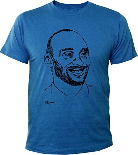 Mister Merchandise Cooles Herren T-Shirt Kobe Bryant Royalblau