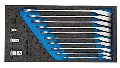 GEDORE 1500 CT1-7 URA Satz Maulschlüssel mit Ringratsche umschaltbar in Check-Tool-Modul, 1 Stück