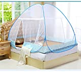 Z&HAO Moskitonetz Für Bett Blau Student Etagenbett Moskitonetz Mesh, Günstigen Preis Erwachsenen Doppelbett Netting Zelt,Blue,1.5Mbed