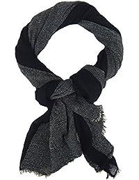 fb760e06c1e517 Ella Jonte Herrenschal schwarz weiß Baumwolle Casual schwarzer Schal