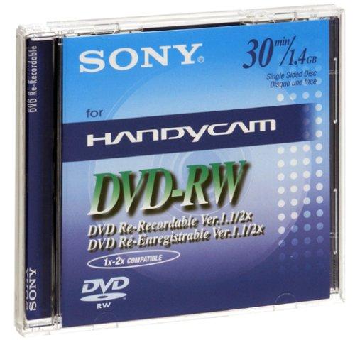 Sony - DVD-RW (rewritable) für DVD-Camcorder, 30 Minuten Sony Dvd Videokamera