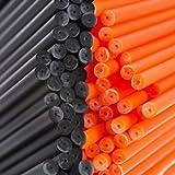 x 100 150mm x 4.5mm Halloween Negro Y Naranja Plástico Color Palito de Paleta Palitos Para Paletas De Pastel de Loypack