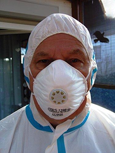 FFP2 R D Wiederverwendbare Hochleistungsschutzmaske (15 Stück Box) - für Katastrophenschutz, Zivilschutz, Pandemievorsorge, Gefahrenabwehr - Schutz gegen Partikel, Rauch, Fasern, Mikroorganismen, Aerosole