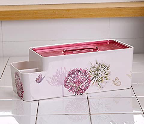Lx.AZ.Kx OrnamentsRectangular Combined Multi-With Tissue Paper CartridgeContinental Household ProductsPull the Paper Tray and Stylish,Rectangular Ball Orchid