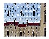 Rene Magritte – Golconde kleinen Poster Drucken (35,56 x 27,94 cm)