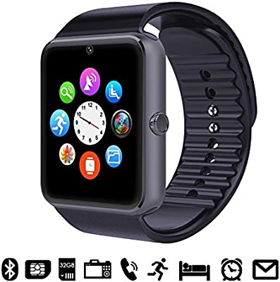 GSTEK Reloj Inteligente Bluetooth Smart Watch Teléfono Inteligente Pulsera con Cámara Pantalla Táctil Soporte SIM / TF para Android Samsung HTC LG Huawei Sony Reloj Deportivo