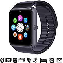 GSTEK Reloj Inteligente Bluetooth Smart Watch Teléfono Inteligente Pulsera con Cámara Pantalla Táctil Soporte SIM / TF para Android Samsung HTC LG Huawei Sony Reloj Deportivo (Negro)