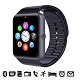 GSTEK Bluetooth Smart Watch Handy-Uhr Mit Kamera SIM / TF Card Slot Pedometer Touch Screen Smartwatch Armbanduhr Watch Phone für Android Smartphones (Schwarz)