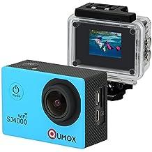 QUMOX WIFI SJ4000 - Cámara de Deporte para casco Impermeable, Azul, Video de Alta definición 1080p 720p