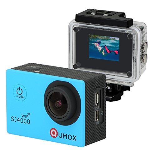 QUMOX WIFI SJ4000 - Cámara de Deporte para casco Impermeable, Azul, V
