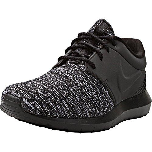 Nike Roshe Nm Flyknit Prm, Scarpe da Corsa Uomo Black/Darkgrey