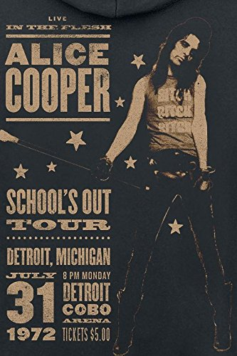 Alice Cooper School's Out Tour Sweat à capuche zippé noir Noir