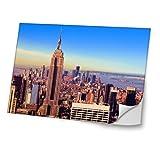 Städte 10036, USA, Skin-Aufkleber Folie Sticker Laptop Vinyl Designfolie Decal mit Ledernachbildung Laminat und Farbig Design für Laptop 14