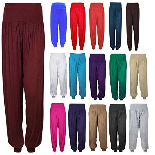 GW CLASSYOUTFIT ® New Ladies Full Length Hareem Ali Baba Harem Pants Women Baggy UK Trousers Harem Leggings