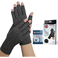Doctor Developed Arthritis Gloves/Compression Gloves and Doctor Written Handbook - Relief from Joint Symptoms, Raynauds Disease & Carpal Tunnel & Hand Conditions (M)