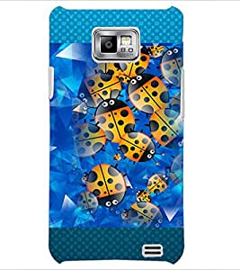 PrintDhaba Ladybug pattern D-4602 Back Case Cover for SAMSUNG GALAXY S2 (Multi-Coloured)