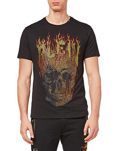 845fbcc4a8c PHILIPP PLEIN - T-Shirt - A Punta Tonda - Manica Corta - Uomo Nero