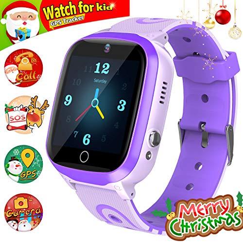 GPS Smartwatch, Reloj Impermeable para NiñOs Reloj Inteligente Rastreador de TeléFono HD Pantalla...