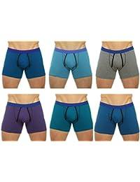 Tom Franks Mens Cotton A Front Boxer Short Trunk (Pack of 6)
