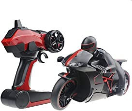 higadget Super Fast Sports RC Motorcycle Bike with Bright LED Headlights 2.4 GHz 1:18 Scale