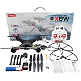 efaso x8 W – Quadcopter FPV, color blanco/negro