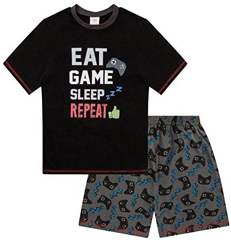 The Pyjama Factory - Pijama Dos Piezas - para niño Negro Negro 13-14 Años
