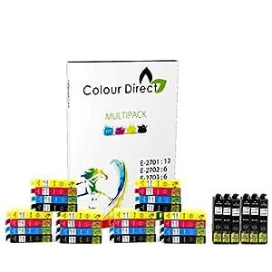 30 Colour Direct Compatible Cartouches d'encre compatibles Remplacement Pour Epson WorkForce WF-3620 WF-3620DWF WF-3640DTWF WF-7110DTW WF-7610DWF WF-7620DTWF WF-7620TWF imprimantes- 27 XL