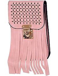 Ratash Cut Work With Stripe Cut Sling Bag Peach (Hbd_28_29_30_13)