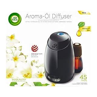 Air Wick Aroma Diffuser Starter Set, Aroma Öl-Diffuser inklusive Duftflakon Weiße Blüten mit ätherischen Ölen (1 x 20ml)