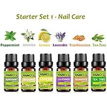 Oli essenziali, top 610ml puro oli per aromaterapia, limone, gelsomino, lavanda, menta piperita, incenso, Tea Tree oils