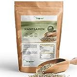 Vit4ever Hanfsamen geschält - 1100 g (1,1 kg) - Laborgeprüft - Natürliche Protein Eiweißquelle - Herkunft Niederlande - Reich an Omega-3 Fettsäuren - 100% Hempseeds - Vegan - Superfood