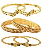 Jewels Galaxy Gold-Plated Bangle Set Of 6 (2.4) For Women/Girls