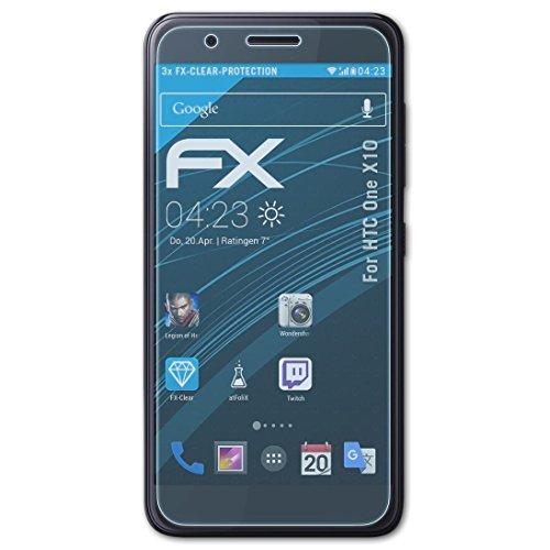 atFolix Schutzfolie kompatibel mit HTC One X10 Folie, ultraklare FX Bildschirmschutzfolie (3X)