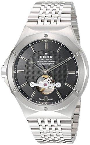 Edox Homme 850243m Nin Delfin Affichage analogique Swiss automatique Argent montre