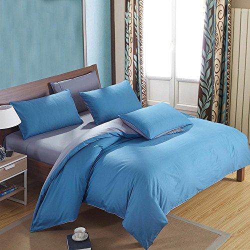 SHIQUNC Baumwolle Druck bettwäsche Plain Schlafzimmer Set 4 stücke 1 bettbezug, 1 bettwäsche, 2 Kissenbezüge, 10, Königin (10 Stück Bettwäsche-sets Königin)