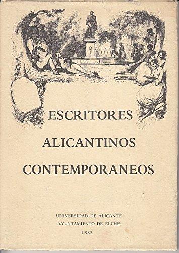ESCRITORES ALICANTINOS CONTEMPORÁNEOS
