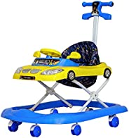 Steelbird Toddler Kids Walker with Toy and Music System, 3 Stage Adjustable Height for 6 Months and Above Kids