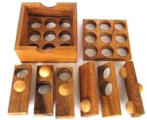 Golf Puzzle - 3D Puzzle - Denkspiel - Knobelspiel - Geduldspiel aus Holz