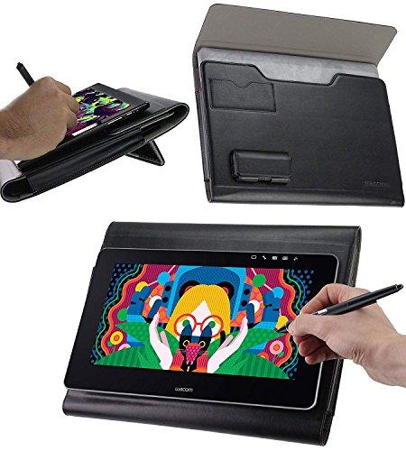 Navitech Broonel Folio Schutzhülle Premium Leder Grafiktablett Hülle Tasche Schutzhülle für XP-Pen Star06 Computer Drawing Tablet 8192 Levels of Pressure 10 x 6 inch Work Area Wireless Graphic Tablet
