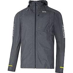 GORE Wear Chaqueta impermeable con capucha de hombre, XXL, Gris, 100254