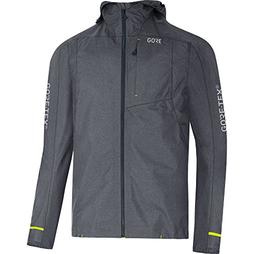 GORE Wear Wasserdichte Herren Kapuzen-Jacke, C5 GORE-TEX Trail Hooded Jacket, L, Grau, 100254