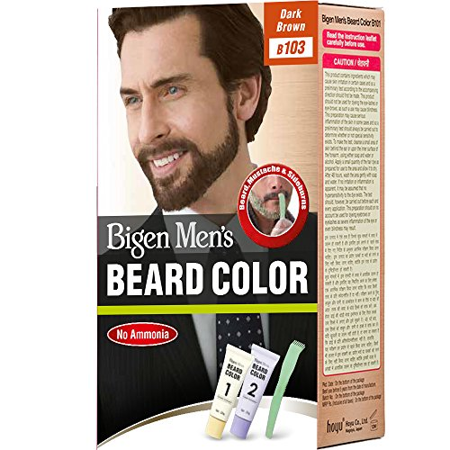 Bigen Men's Beard Color, Dark Brown B103 (20g+20g)