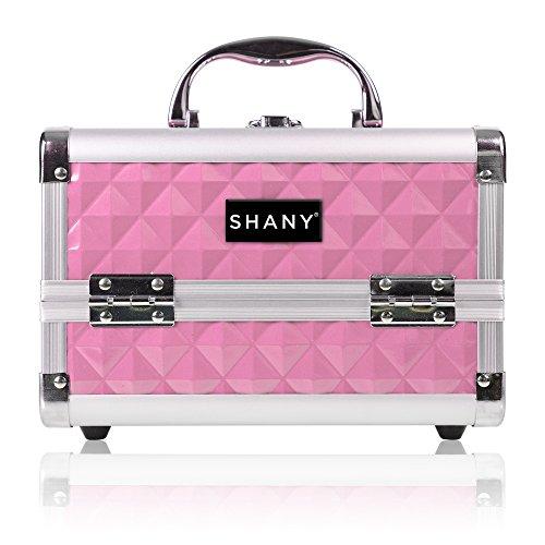 Shany Cosmetics - Boîte de maquillage facilement transportable - Miroir intégré - Rose clair