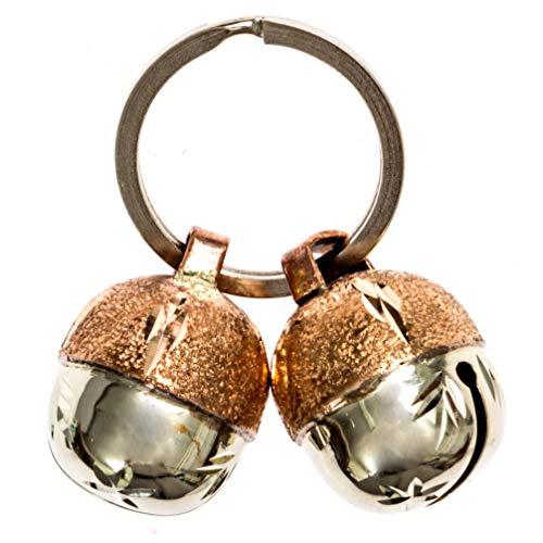 Beau\'s Bells 2 extra Laute Katzen und Hunde Glocken * Save Birds & Wildlife * Luxus Handarbeit Kupfer