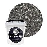Wanders24 Glimmer-Optik (1 Liter, Silber-Schwarz) Glitzer-Strukturpaste in 16 Farbtönen erhältlich, individuelle Gestaltung, Farbe Made in Germany